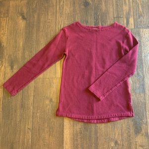 A New Day Patterned Burgundy Sweater Sz XS